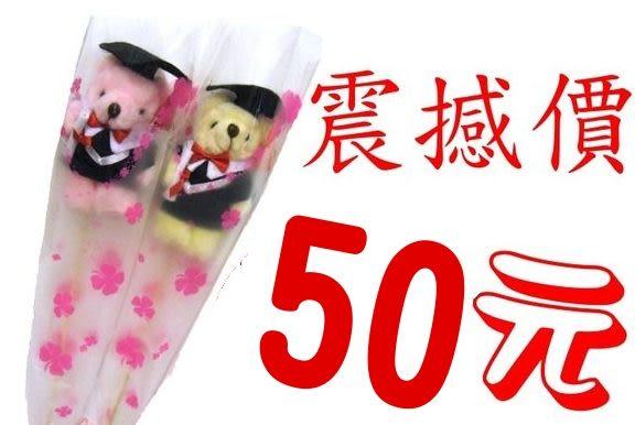 永和網路花店~團購力量大畢業小熊花束每支超低優惠價只要50元.歡迎自取.近頂溪捷運站