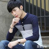 學生全棉男裝青少年帶領有領體恤翻領打底POLO衫   LY8714『美鞋公社』