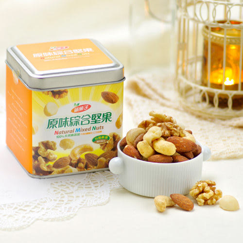 Mongi萌菓子.原味綜合堅果(110g/罐,共兩罐)﹍愛食網