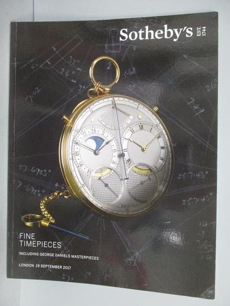 【書寶二手書T8/收藏_PEZ】Sotheby s_Fine Timepieces Including…2017/9/1