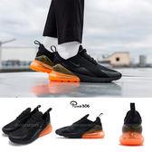 Nike 慢跑鞋 Air Max 270 Tonal Orange 黑 橘 大氣墊 大型後跟氣墊 舒適緩震 運動鞋 男鞋【PUMP306】 AH8050-008