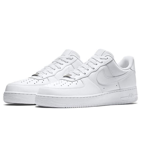 Nike Air Force 1 07 男鞋 慢跑 休閒 鐵牌 AF1 白【運動世界】 315122-111
