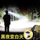 戶外led頭燈強光充電超亮頭戴式手電筒感...