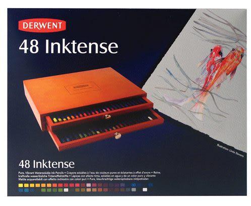 DERWENT 達爾文水墨色鉛筆 豪華木盒 48入*2300151