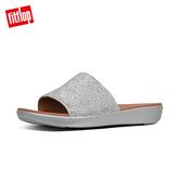 新降7折  【FitFlop】SOLA CRYSTALLED SLIDES 一片式簡約涼鞋-女(銀色)