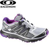 丹大戶外用品 法國【SALOMON】XR Mission女款輕量健走登山鞋/透氣舒適 327825 黑紫灰