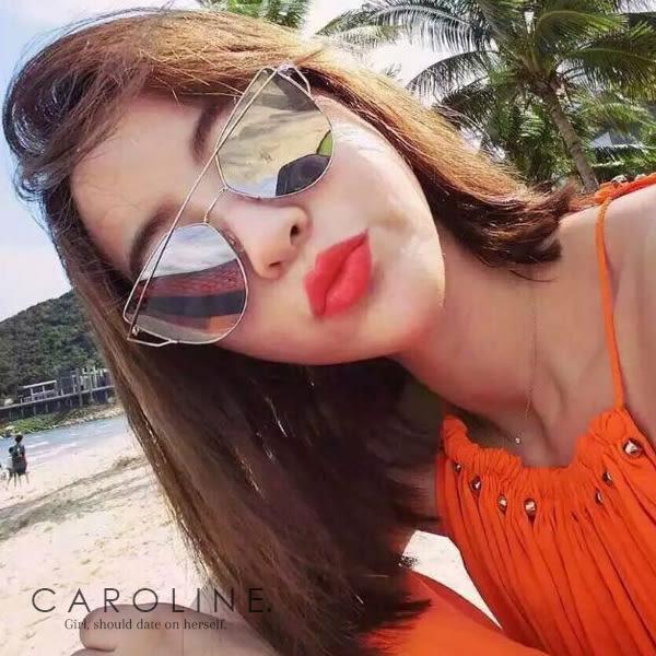 《Caroline》★年度最新網紅款潮流行時尚百搭明星抗UV太陽眼鏡 70656標檢局D74321