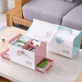藥箱家庭醫藥箱大號兒童急救箱藥品收納盒醫療箱家用小醫薬箱