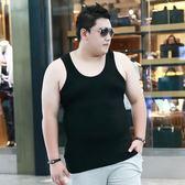 大碼背心男夏季加肥加大碼男士胖子肥佬莫代爾薄款寬松棉打底汗衫 樂芙美鞋