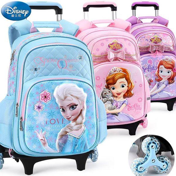 迪士尼兒童拉桿書包小學生三輪冰雪蘇菲亞1-3-4年級女童雙肩背包6