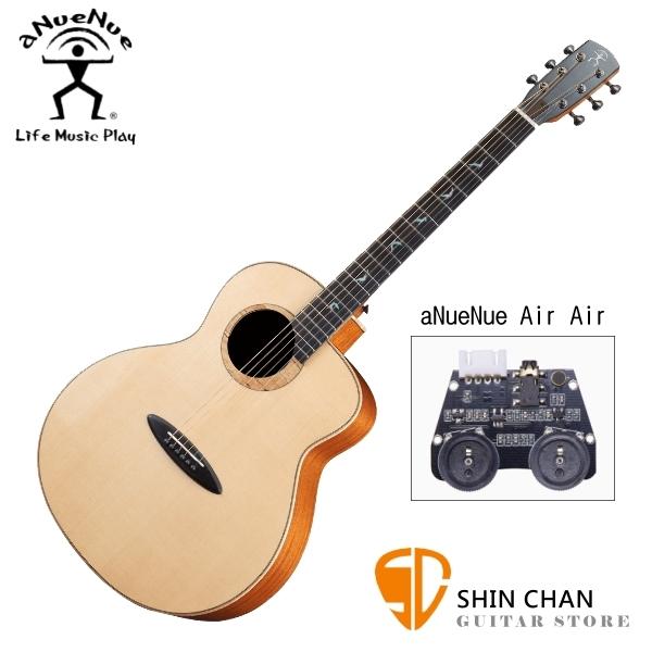 aNueNue L200E 雲杉木面板+玫瑰木側背板 41吋 全單板 可插電 民謠吉他/鳥吉他/木吉他 附多樣配件