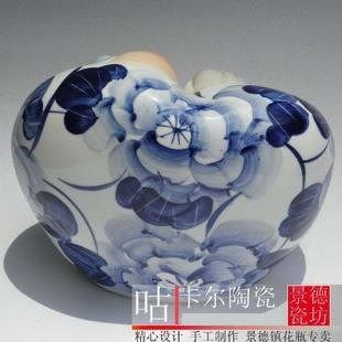 景德鎮 陶瓷器 雕塑壽星 心心相印