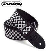 小叮噹的店-美國Dunlop 吉他背帶 黑白方格 D38-31BK 肩帶