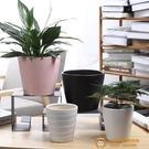 陶瓷花盆簡約創意植物室內桌面透氣花盆超級品牌【小獅子】