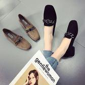 單鞋粗跟韓版百搭春季中跟小皮鞋淺口鞋子女