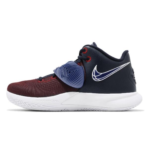 Nike 籃球鞋 Kyrie Flytrap III EP 深藍 紅 XDR 中筒 男鞋 【ACS】 CD0191-400