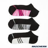 SKECHERS 超薄款休閒船型襪 一組三雙 白X灰X粉 S107859 016