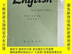 二手書博民逛書店罕見外文書 ENGLISH TEACHER S BOOK 1Y2
