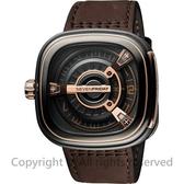 SEVENFRIDAY M2-2 設計師工藝自動上鍊機械錶-玫瑰金x咖啡/47mm M2-2