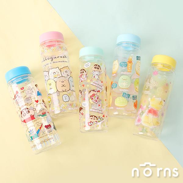 日貨透明水壺v6-Norns 500ml水瓶 餐具 冷水壺 角落生物 蠟筆小新 迪士尼 維尼 史迪奇 奇奇蒂蒂