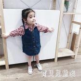 女童牛仔吊帶裙 全棉背帶裙2019秋季新款嬰兒韓版百搭吊帶裙 BF21180『寶貝兒童裝』