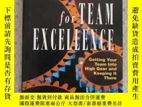 二手書博民逛書店Tools罕見for Team Excellence Gregory E. Huszczo 英語原版精裝Y67