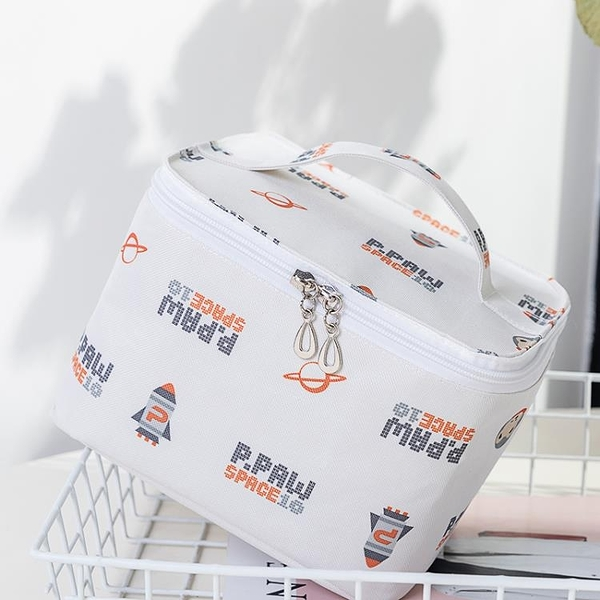 化妝包化妝包bling日系少女簡約ins大容量化妝品收納盒便攜防水洗漱包 美物 交換禮物