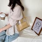 果凍錬條小包包新款潮質感洋氣百搭單肩包時尚夏女包斜背包包 【全館免運】