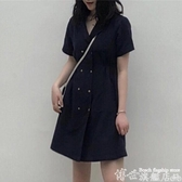 大碼連身裙 大碼胖mm遮胯連身裙子夏潮2020年新款女裝春季網紅潮顯瘦減齡洋氣 7月特惠