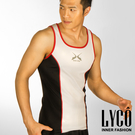 LYCO男背心‧Y白吸排運動背心