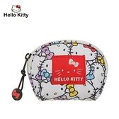 【橘子包包館】Hello Kitty 繽紛凱蒂-零錢包-白 KT01V05WT 零錢包