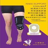 吸濕排汗黑藍色護膝 GoAround  COOLMAX加強壓縮護膝(1入) 醫療護具 吸濕排汗護膝 膝蓋保護 杜邦萊卡