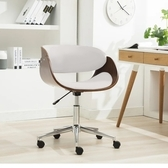 E-home Monroe蒙羅可調式曲木電腦椅-白色
