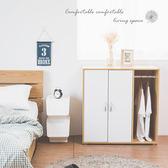 衣櫥 衣櫃 收納衣物 衣櫥櫃【N0067】洛可兩門側一格吊掛衣櫃 收納專科
