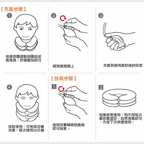 三層三管全絨頸椎伸展器 灰色 一入 頸椎牽引器 舒療釋壓枕 旅行枕 充氣頸枕【PQ 美妝】