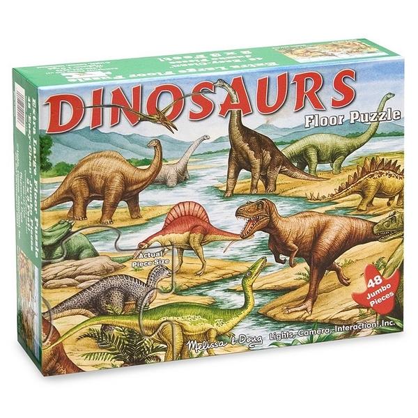 《 美國 Melissa & Doug 》地板拼圖-恐龍,48 片 / JOYBUS歡樂寶貝