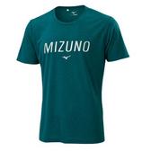 MIZUNO 男裝 上衣 短袖 T恤 合身版型 吸汗快乾 沼綠【運動世界】32TA001133