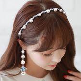 韓國簡約發帶窟女假耳環流蘇發卡甜美水?頭箍發夾發飾頭飾品發箍 熊貓本