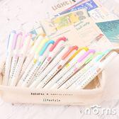 【日貨mildliner雙頭螢光筆 單支】Norns 日本進口文具 Zebra 斑馬 淡柔系 冷色系 和風系
