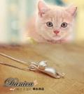 項鍊 現貨 韓國氣質甜美 超可愛立體貓星...