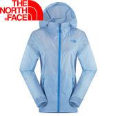 【The North Face 女 風衣外套 粉藍】NF00CVF9/風衣外套/防風外套/薄外套★滿額送