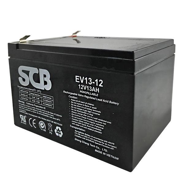 龍昌 SCB EV13-12 鉛酸電池 12V 13Ah 代步車 電動機車 電動車 電池【康騏電動車】