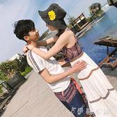 情侶裝夏裝新款韓版百搭寬鬆T恤套裝氣質夏季學生洋裝/連身裙女   伊鞋本鋪