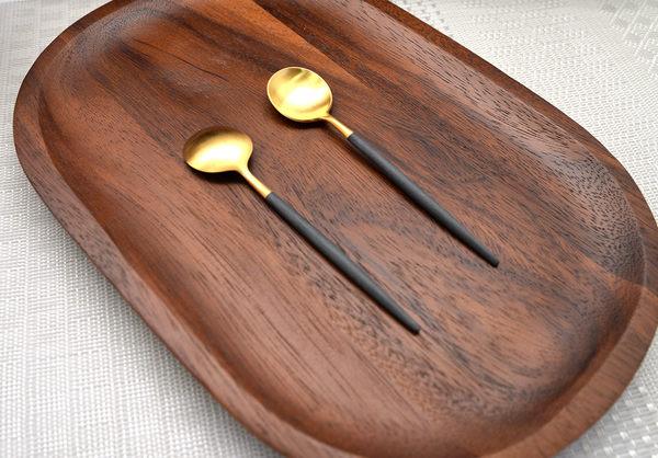葡萄牙 Cutipol GOA系列12cm咖啡匙 (黑金)