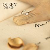 Queen Shop【07030627】單水鑽設計造型耳釦*現+預*