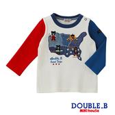 DOUBLE_B 黑熊旅行地圖長袖T恤(多色)