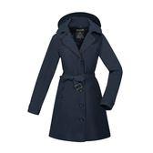 【買就送!2用後背包】[ATUNAS] 歐都納 (女) 都會時尚2L GTX+羽絨二件式外套 藍黑 (A-G1825W-A)