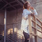 【MACACA】純棉開釦輕盈長版襯衫-BSE3312(白)(瑜伽/慢跑/健身/輕運動)