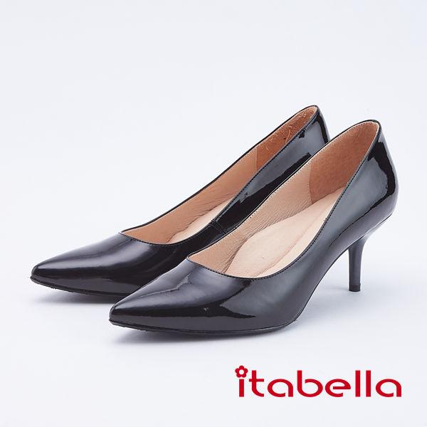 itabella.氣質高雅-真皮尖頭高跟鞋(9585-94黑色)