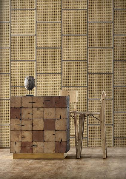 編織紋 藤編織圖案 木紋壁紙 仿真 荷蘭壁紙 5色可選 NLXL CANE WEBBING / VOS-17